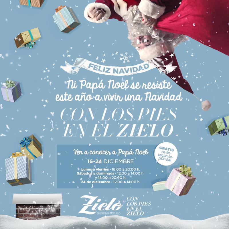 Imagenes De Papa Noel De Navidad.Papa Noel Zielo Shopping Pozuelo