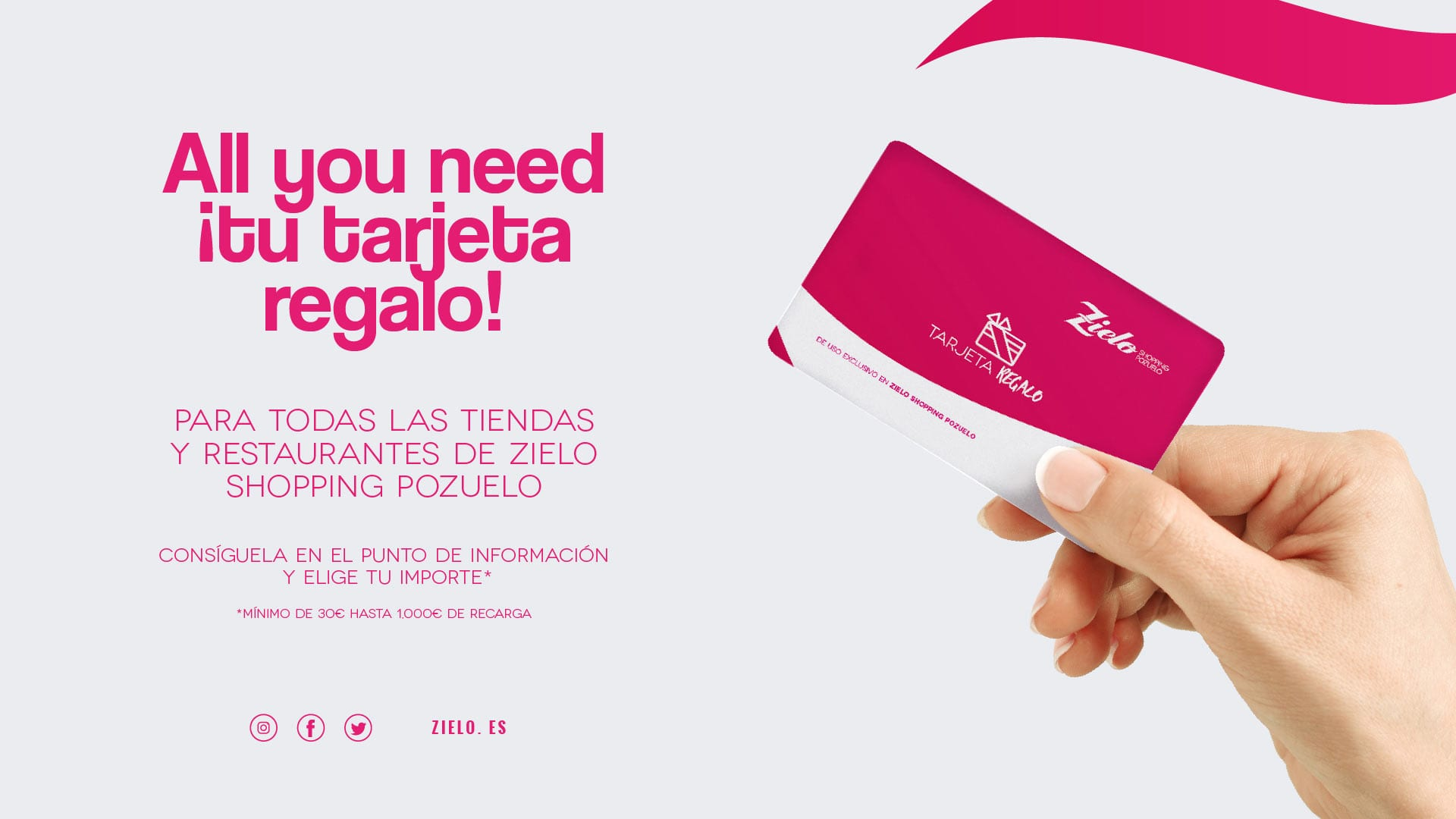 All You need ¡tu tarjeta regalo!