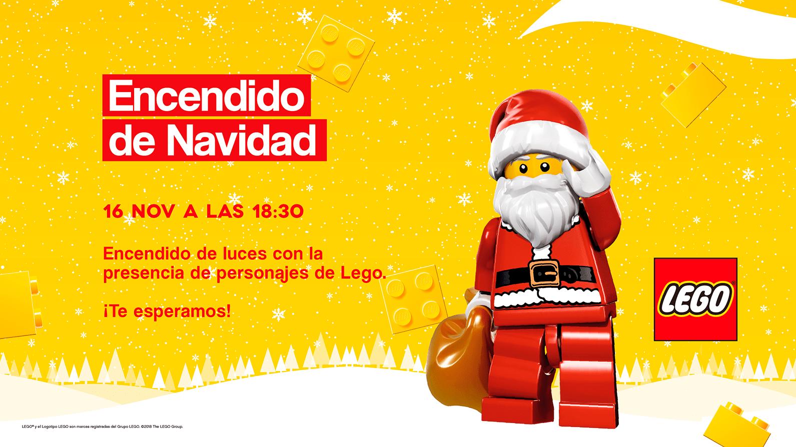 Ven a vivir la Navidad con los personajes de ¡¡Lego!!