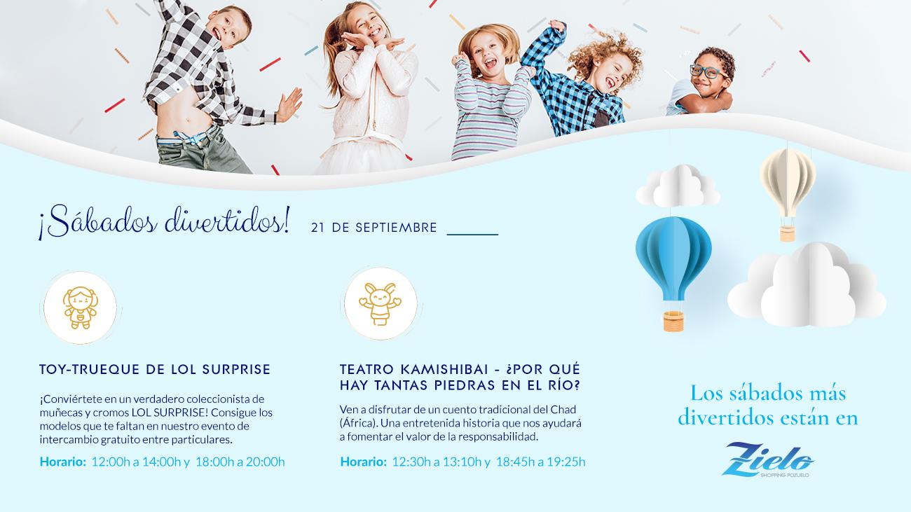 Actividades infantiles sábado 21 de septiembre