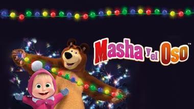 Encendido de Navidad con Masha y el oso